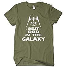 Cybertela Men's Father's Day Gift Best Dad in The Galaxy T-Shirt