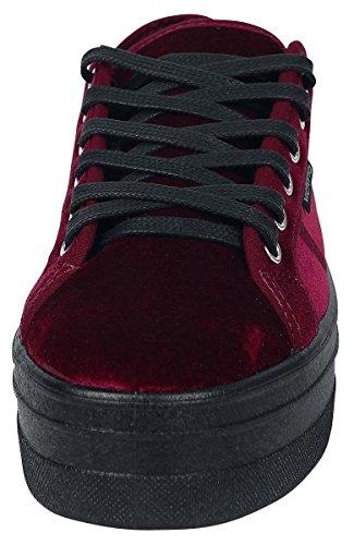 Terciopelo Basket 41 Mujer para Victoria Zapatillas Rojo Burdeos 5pwxqqOU1