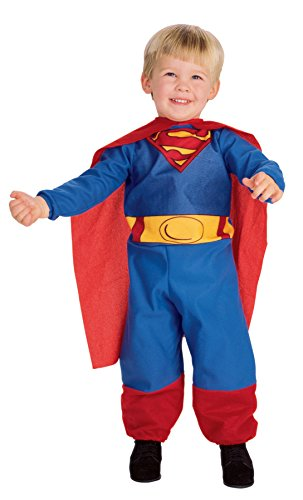 [UHC Boy's Superman Superhero Toddler Fancy Dress Outfit Child Halloween Costume, 2T-4T] (Marvel Super Villains Costumes)