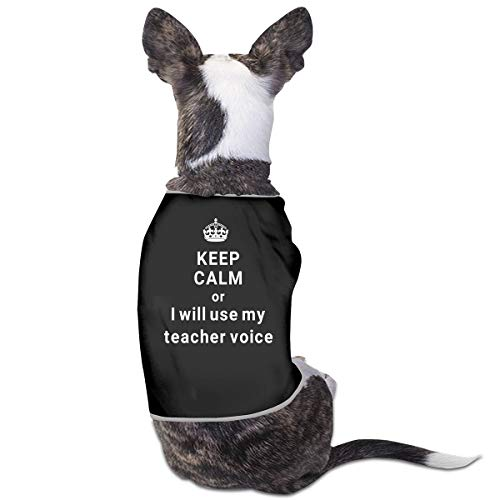 Jmirelife Puppy Dogs Shirts Costume Pets Clothing Keep Calm Teacher Small Dog Clothes -