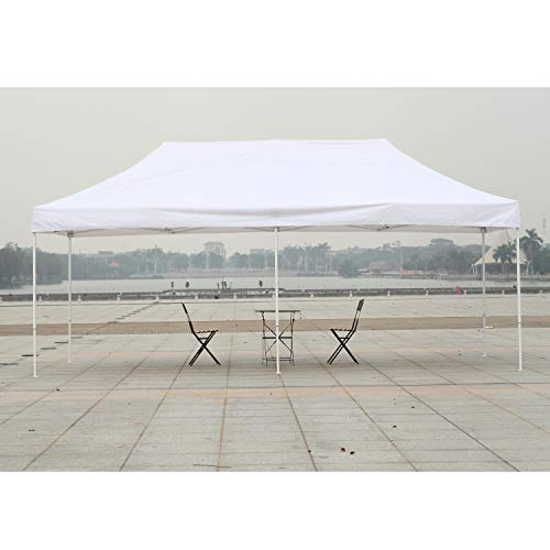 American Phoenix Canopy Tent 10x20 Easy Pop Up Instant Portable Event Commercial Fair Shelter Wedding Party Tent (White, 10x20) ()