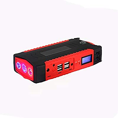 AWAKMER Portable Car Jump Starter, Battery Booster Pack and Power Supply with LCD Display, Smart Cables, LED Flashlight and USB & Laptop Charging.