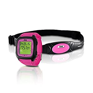 Smart Fitness Heart Rate Monitor - Digital Sports Wrist Watch Activity HR Tracker w/ Chest Strap, 3D Sensor, EL Backlight, Alarm, Used in Exercise or Running, For Men and Women - Pyle PHRM76PN (Pink)
