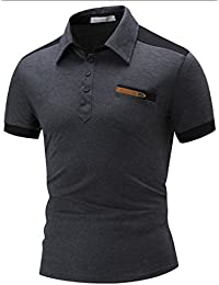 Mens Casual Summer Slim Wild Short Sleeve Pocket Polo Shirt