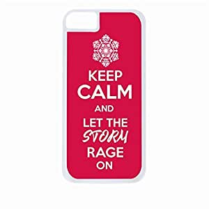 linJUN FENGKeep Calm and Let The Storm Rage On - Red- Hard White Plastic Snap - On Case-Apple Iphone 5C Only - Great Quality!
