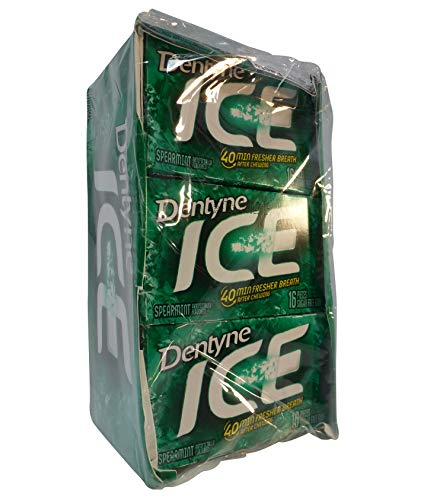 Dentyne Ice Spearmint Sugar Free Gum Multi Pack - 12 Packs of 16 Pieces