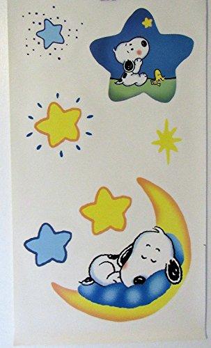 Peanuts Baby Snoopy & Woodstock Nursery Stickers 26 Peel N Stick