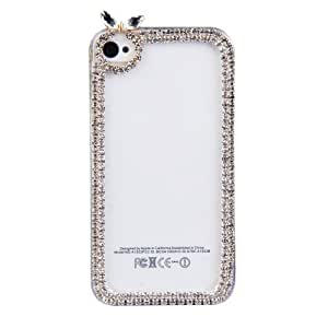 Vktech Thin Transparent Clear Crystal Finished Hard Case Back Cover for iPhone4 4S (Apple)