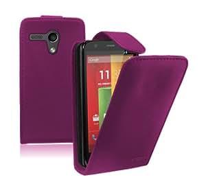 Membrane - Morado Funda Carcasa para Motorola Moto G (XT1032 / X1032 / Dual SIM XT1033 / XT1045 LTE / Peregrine) - Flip Case Cover