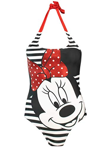 Disney Womens' Minnie Mouse Swimsuit X-Large White