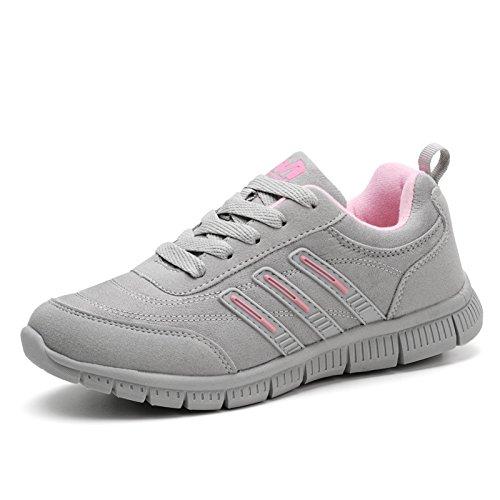 para y Hasag gray powder A5 Verano Zapatos Zapatos Transpirables Deportivos con Mamá Femeninos con Cómodos Blanda Suela Cordones light Primavera UYqrU8x