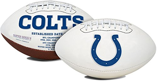 Jarden Indianapolis Colts Football Full Size Embroidered Signature Series