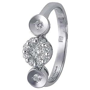 Verona Women's 18K Pure Gold Diamond Ring - 7.5