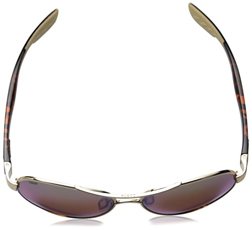 Costa del Mar Loreto Polarized Iridium Aviator Sunglasses, Rose Gold, 56.5 mm