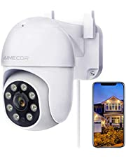 $47 » Outdoor Security Camera, AIMECOR FHD 1080P Pan/Tilt 2.4G WiFi Home Surveillance Camera with Night Vision 2-Way Audio Cloud Motion Detection Activity Alert IP66 Waterproof Cloud Alexa - iOS, Android