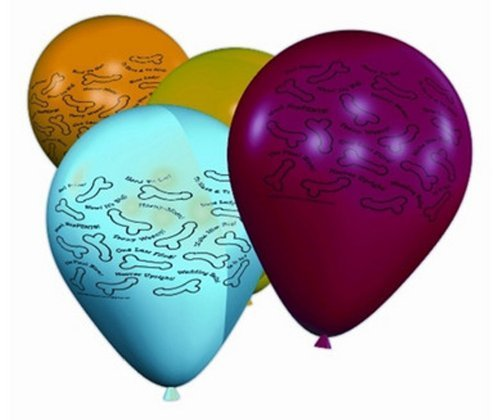 Risque Bachelorette Party 11-Inch Latex Balloons - 8 Count by Candyprints LLC