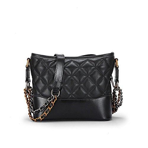 Large Bag XDDB Double Chain Messenger Black Lady Classic Oblique Lingge Bag Bag Bucket AHAw7
