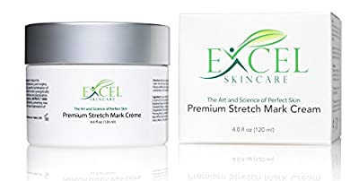 Premium Stretch Mark Cream 4.0 Oz/118ml - (Professionally Formulated) w/ Natural Soothing Vitamins, Botanical Extracts, Skin Tightening Properties, and Collagen Building Peptide Agents