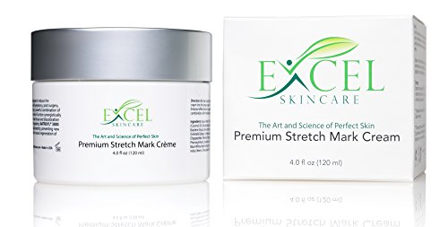 Premium Stretch Mark Cream 4.0 Oz/118ml - (Professionally Formulated) w/Natural Soothing Vitamins, Botanical Extracts, Skin Tightening Properties, and Collagen Building Peptide Agents