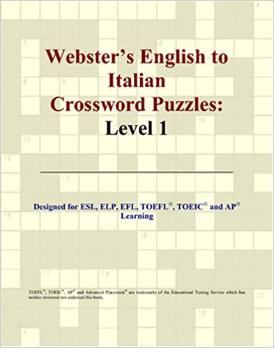 Amazon Com Webster S English To Italian Crossword Puzzles Level 1 9780497254506 Parker Philip M Books