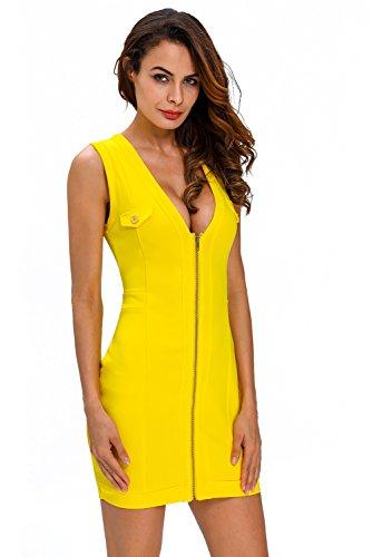 Pinkyee - Vestido - para mujer amarillo