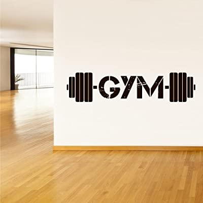 Fit You Wall Decal Vinyl Sticker Decals Gym Gymnastics Muscle Power Fitness Sport Man Rod Barbell (Z3116)