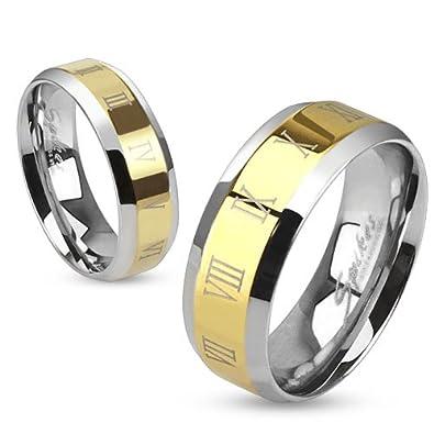 Amazon.com: str-0097 Centro de Acero Inoxidable Oro Ip con ...