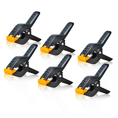 4.5 Inch Adjustable Heavy Duty Spring Clamps for Muslin/Paper Photo Studio Backdrop stand kit Photography Background Support -6 Pack