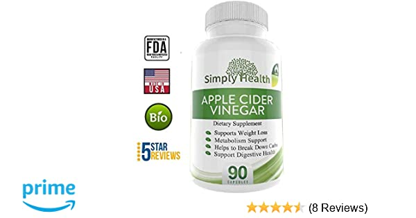 Amazon Com Organic Apple Cider Vinegar Capsules For Weight Loss