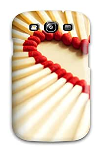 7256389K98627919 Top Quality Rugged Love Matchsticks Case Cover For Galaxy S3