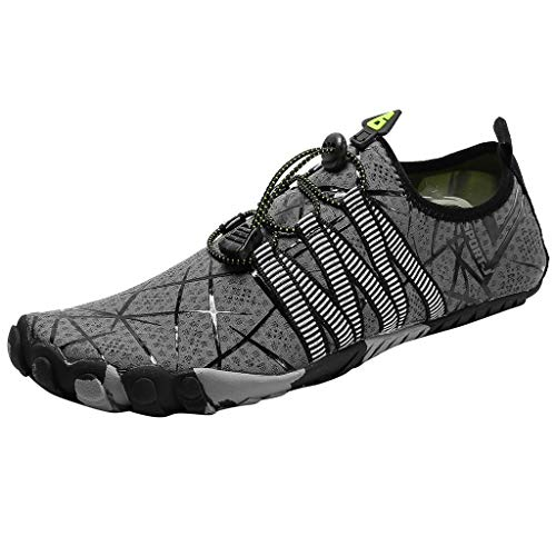 JJLIKER Water Shoes Barefoot Swim Diving Surf Yoga Aqua Sports Quick Dry Pool Beach Walking for Mens Womens Couple