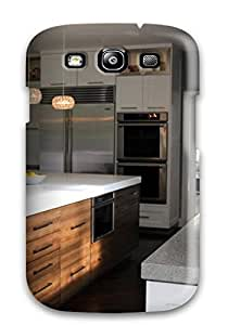 Flexible Tpu Back Case Cover For Galaxy S3 - Contemporary Zebrawood Cabinets With Quartz Countertop