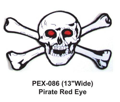 - 13'' Embroidered Military Extra Large Patch Pirate Red Eye