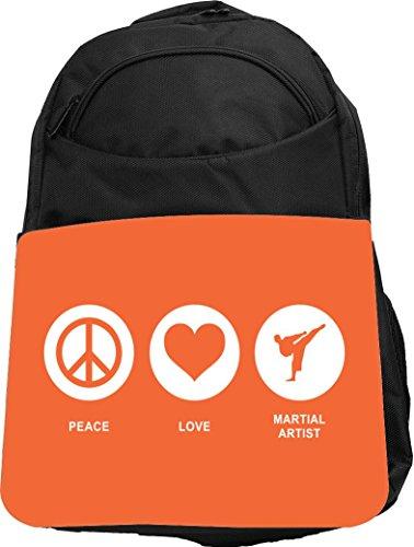 Rikki Knight UKBK Peace Love Martial Artist Orange Color ...