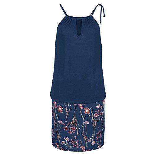 2018 de Print Verano de vino la mini Vestidos Beikoard Mujer S manera,Lady Impresión Marina vestido sling Tinto w8tcT