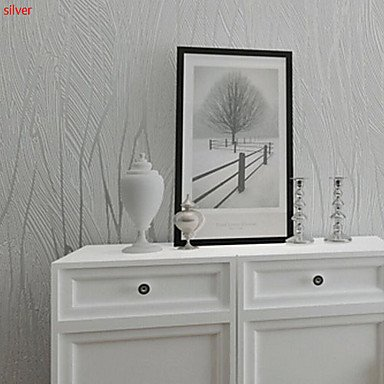 contemporary wallpaper art deco 3d flocking wallpaper wall covering non woven fabric wall art white light amazoncouk kitchen home