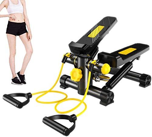 JHNEA Fitness Mini Stepper, vielseitig Stepper Trainingsgerät mit Multifunktions-Display 2in1 Twister Stepper Aerobe…