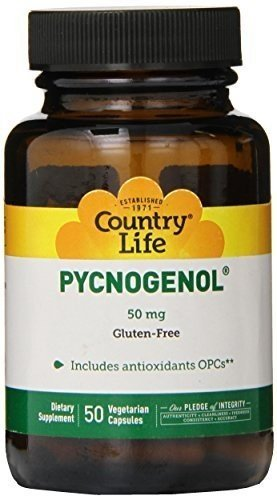 Country Life PYCNOGENOL 50MG, 50 VCAP by Country Life