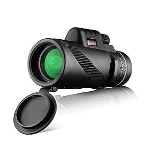 MeeQee 10X42 Dual Focus Monocular Telescope, Prism Film Optics, Tripod Capable, Waterproof Monocular Scope for Birdwatching/ Hunting/ Camping/ Hiking / Golf/ Concert/ Surveillance