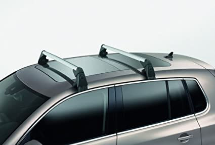 Genuine 2009 - 2013 Volkswagen Tiguan Base Carrier Bars, for Vehicles  Without Factory Rails