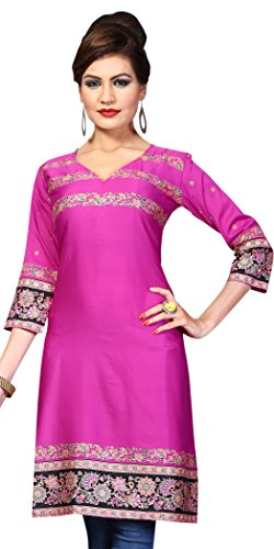 Indian Tunic Top Womens Kurti Printed Blouse India Clothing – Small, L 139