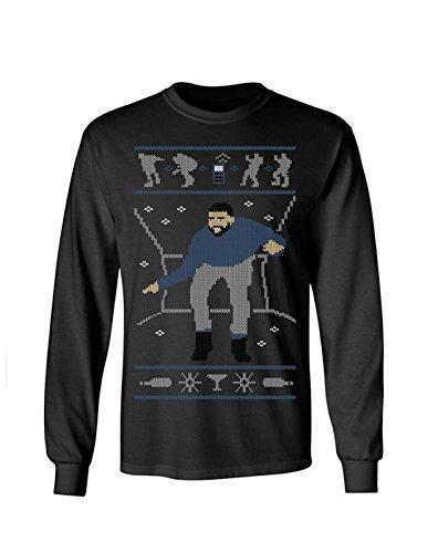 Adult Christmas Hotline Bling Funny Ugly Christmas Long Sleeve T-Shirt - Small (Black)