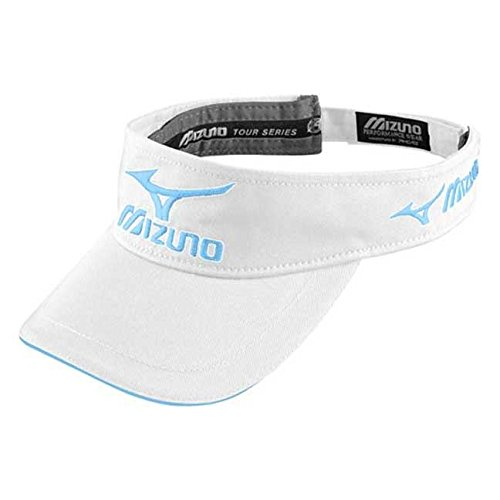 Mizuno 2017 Tour Series Hat Adjustable Performance Golf Visor White/Sky ()