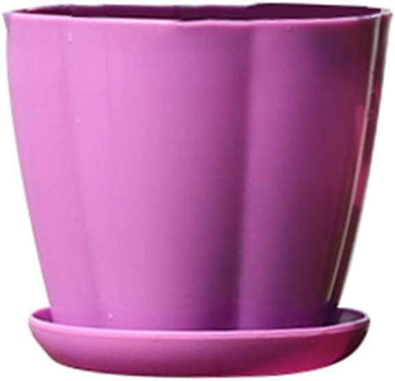 maceta de jard/ín suculento XS PP Macetas de jard/ín con forma de calabaza de pl/ástico de imitaci/ón de porcelana amarillo