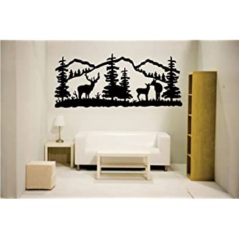 Newclew Elk Deer Nature Mountain Hunting Removable Vinyl Wall Quote Decal  Home Décor Large Part 81