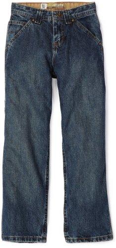 - Lee Big Boys' Dungarees Carpenter Utility Jeans, Deep Blue Handsand, 16 Regular