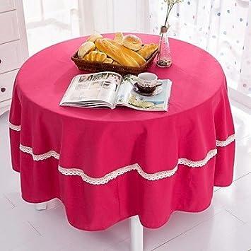 Bobo Rosa Farbe Runde Tischdecke Mit Häkeln Polyester Dia 70