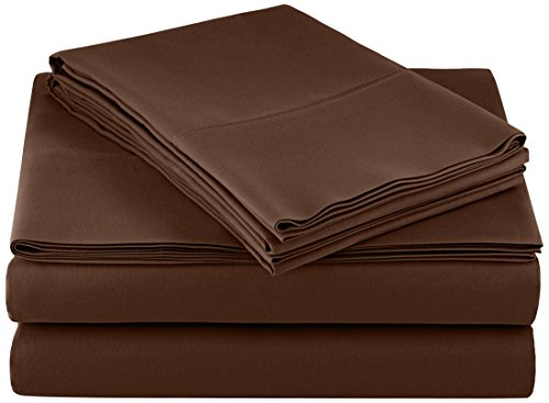 AmazonBasics Microfiber Sheet King Chocolate
