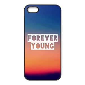 Customized Cell Phone Case Cover for iPhone 5,5S with DIY Design Forever Young