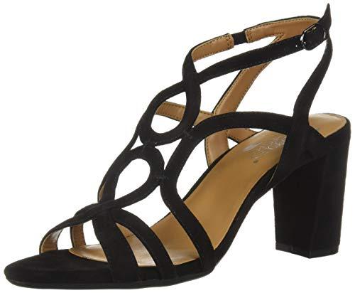 Aerosoles Sandals Suede (Aerosoles Women's Early Bird Heeled Sandal, Black Suede, 10 M US)